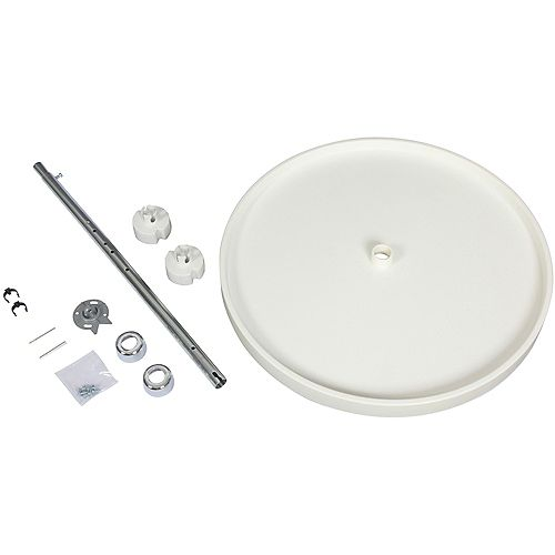 Full Round 10 Shelf Poly Lazy Susan With 5 Hardware Sets - 20 Inches Diameter