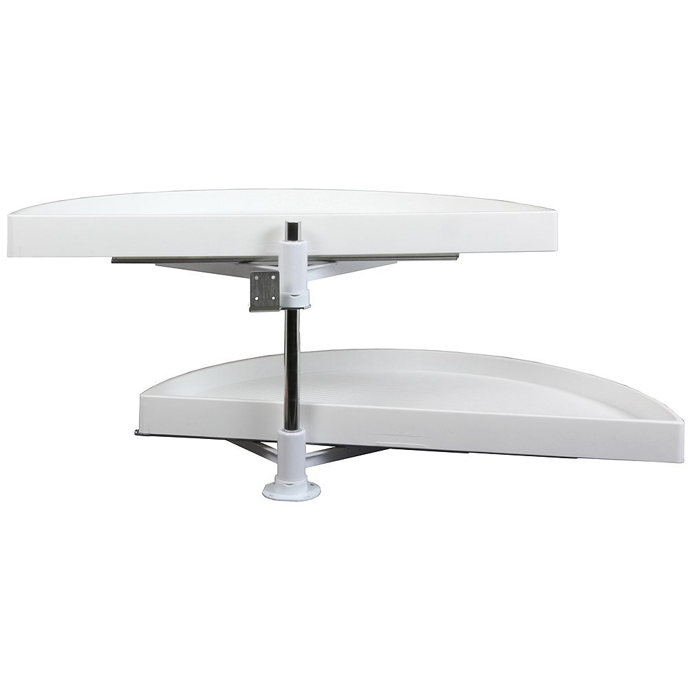 Knape & Vogt Double Glide-Out Out Half Moon Poly Lazy Susan - 27.875 Inches Diameter