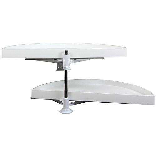 Double Glide-Out Out Half Moon Poly Lazy Susan - 33.875 Inches Diameter