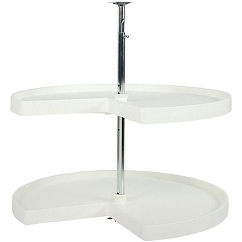 Kidney Shaped 2 Shelf Poly Lazy Susan - 32 Inches Diameter
