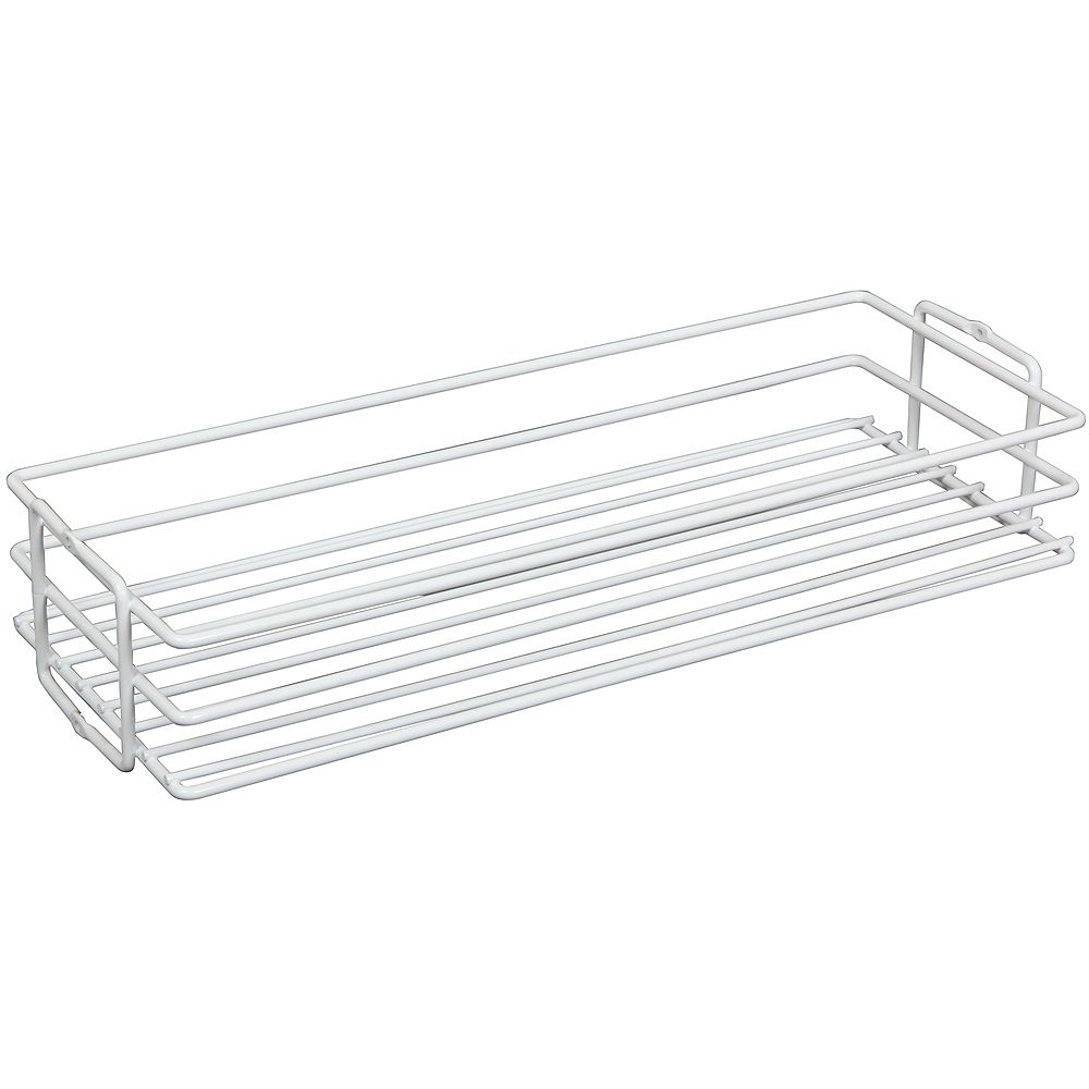 Knape & Vogt White Center-Mount Pantry Basket - 8 Inches Wide