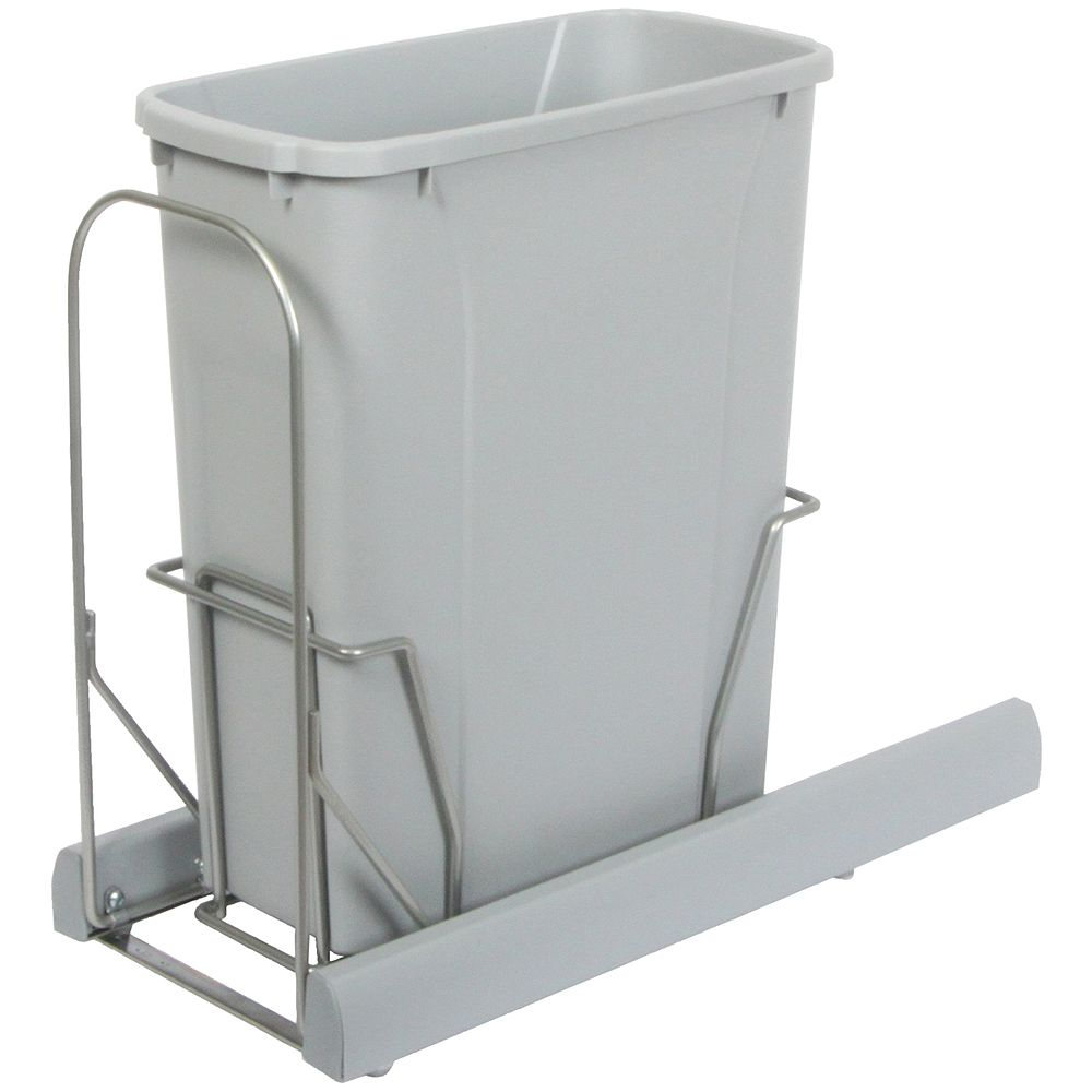 Knape & Vogt Single 20 Quart Bin Platinum Soft-Close Waste and Recycling Unit - Lid is not Included