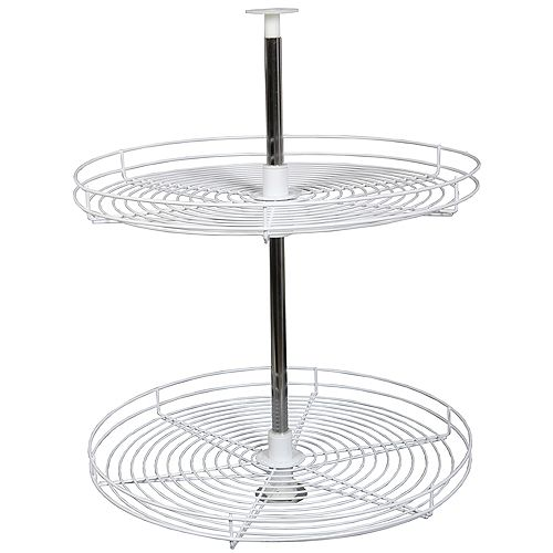 Full Round White Wire Lazy Susan - 24 Inches Diameter