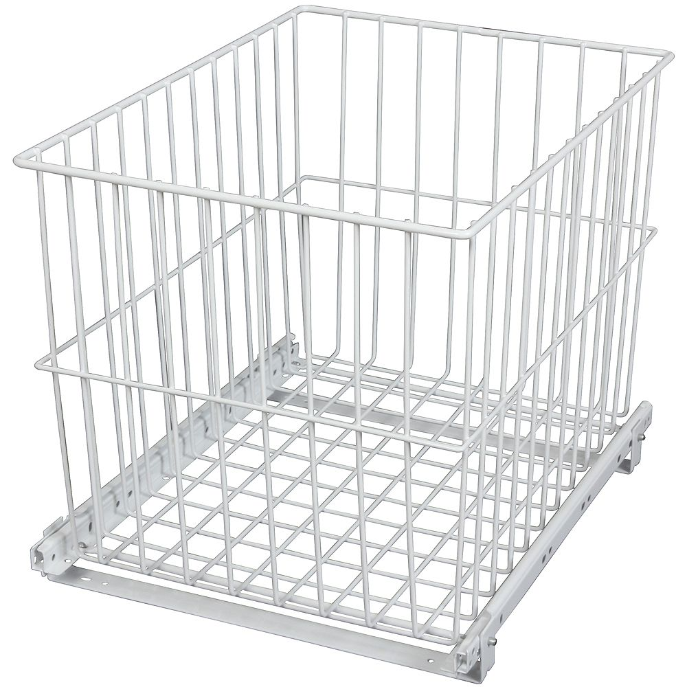Knape & Vogt Roll-Out Wire Hamper - 11.4375 Wide x 14.625 Inches Tall