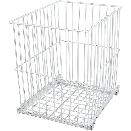 Knape & Vogt Roll-Out Wire Hamper - 11.4375 Wide x 18.875 Inches Tall