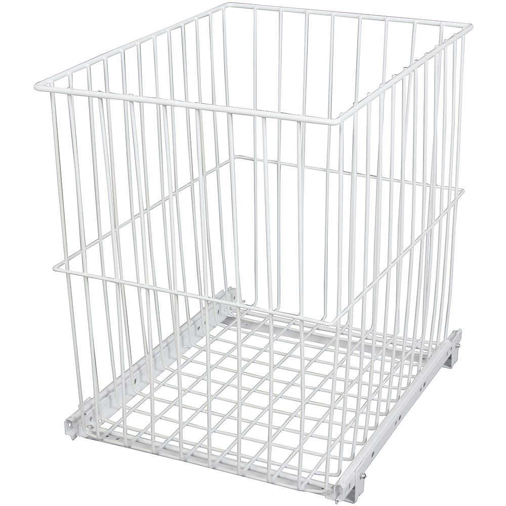 Knape & Vogt Roll-Out Wire Hamper - 14.4375 Wide x 18.875 Inches Tall