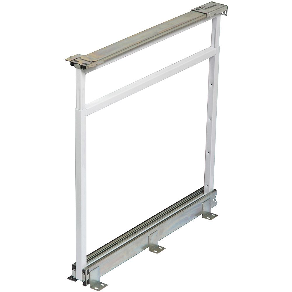Knape & Vogt Center Mount White Pantry Frame - 25 Inches to 28.5 Inches Tall