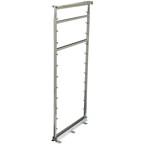 Side Mount Frosted Nickel Pantry Frame - 42.5 Inches to 49.375 Inches Tall