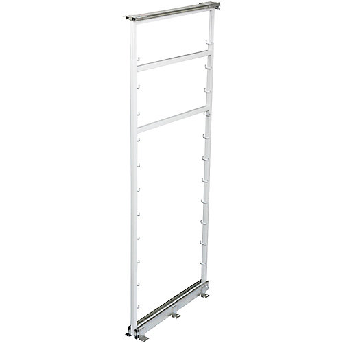 Side Mount White Pantry Frame -  42.5 Inches to 49.375 Inches Tall