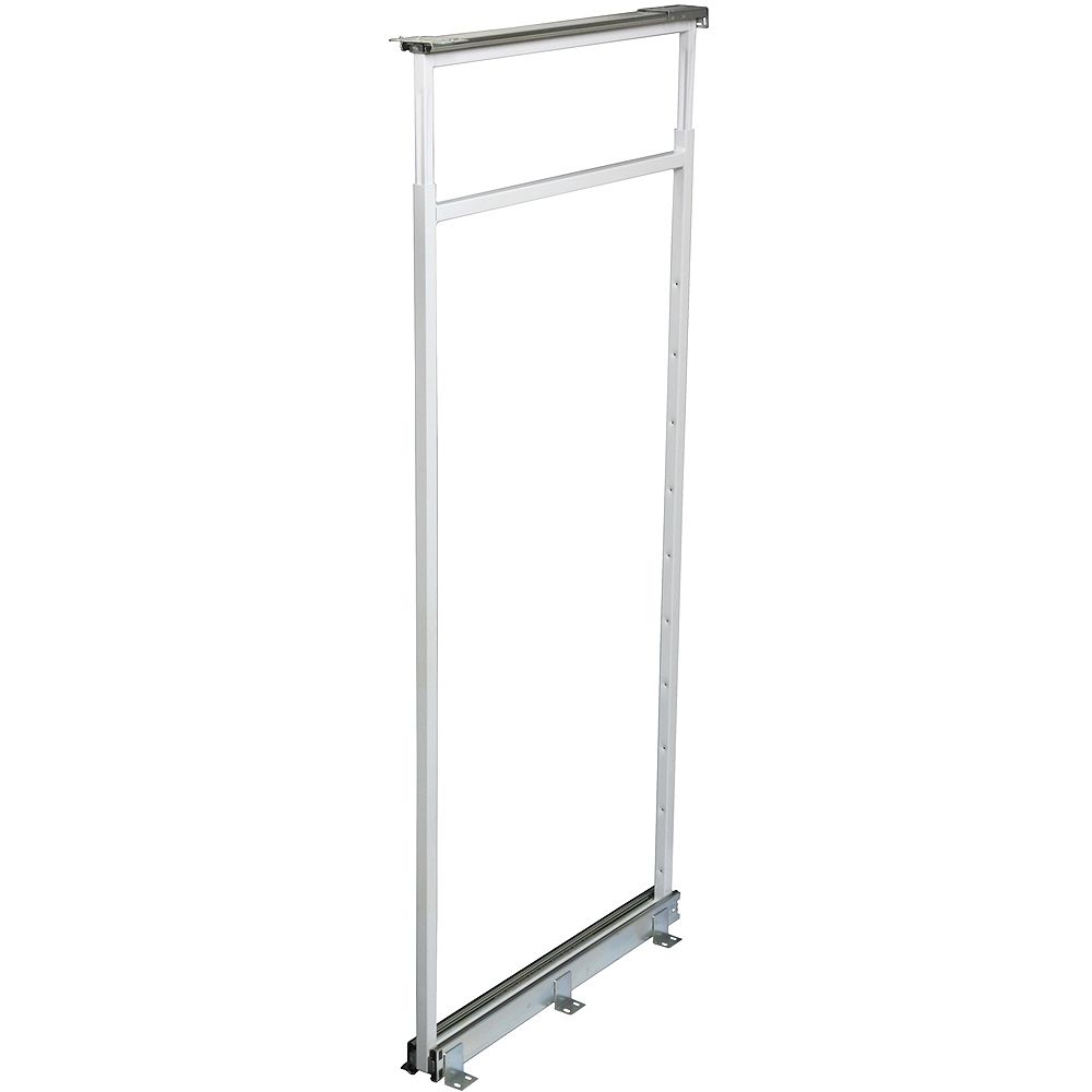 Knape & Vogt Center Mount White Pantry Frame -  46.5 Inches to 53.375 Inches Tall