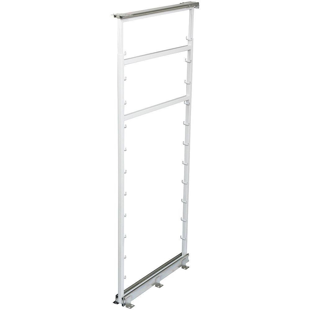 Knape & Vogt White Side Mount Pantry Frame -  50.5 Inches to 57.375 Inches Tall