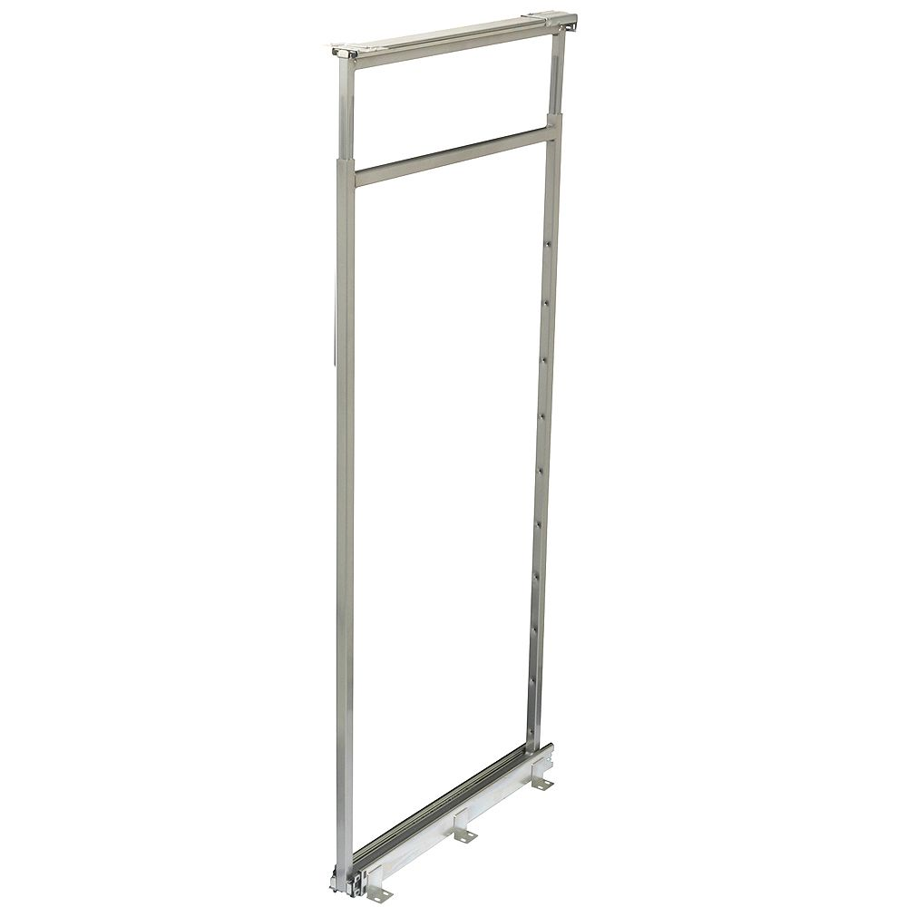 Knape & Vogt Center Mount Frosted Nickel Pantry Frame - 54.5 Inches to 61.375 Inches Tall