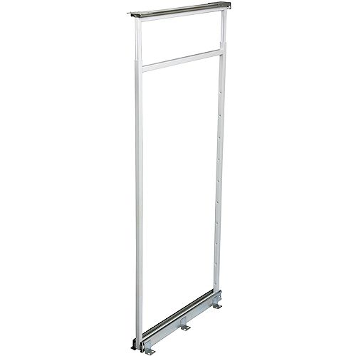 Knape & Vogt Center Mount White Pantry Frame -  54.5 Inches to 61.375 Inches Tall