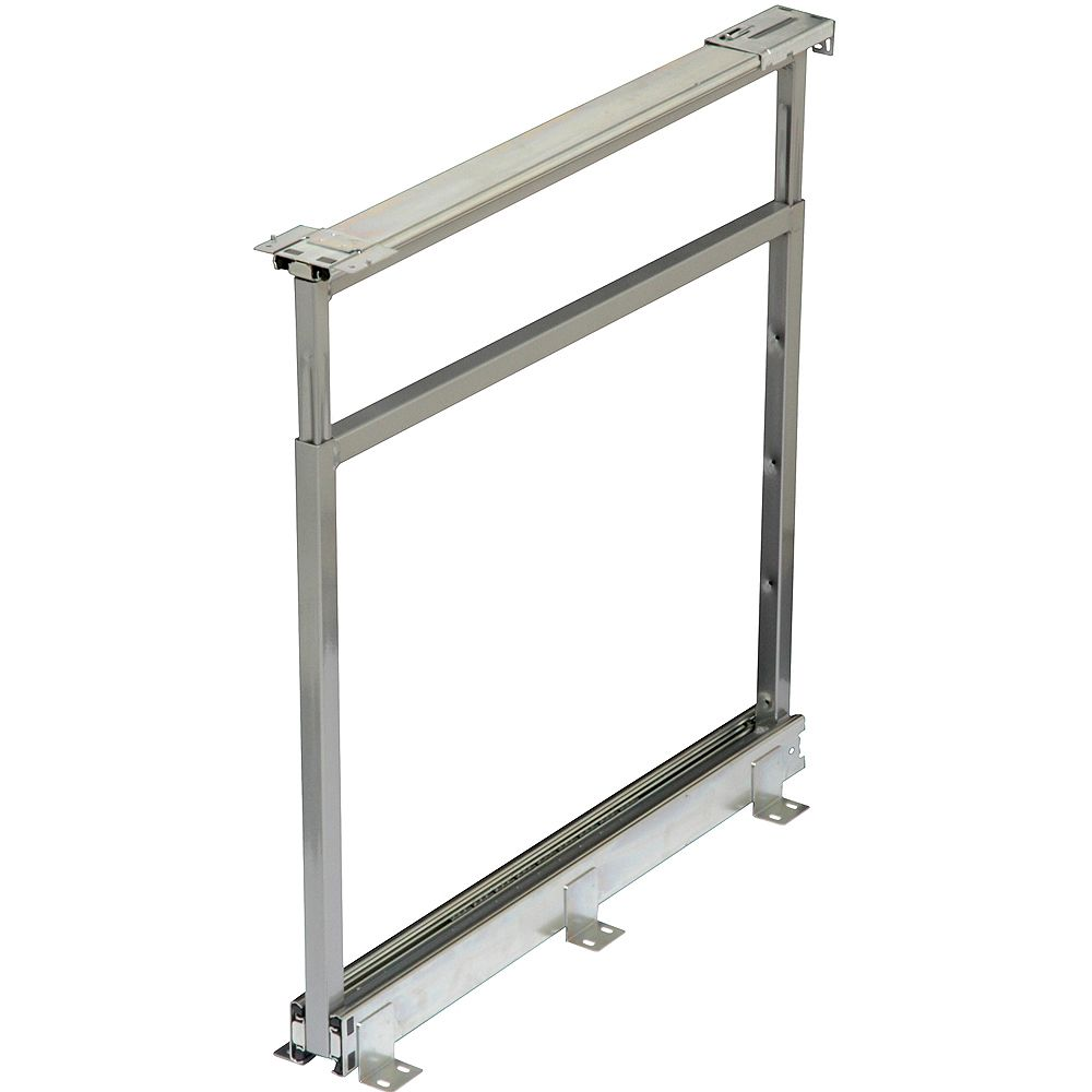 Knape & Vogt Center Mount Frosted Nickel Pantry Frame - 18.75 Inches to 22.5 Inches Tall