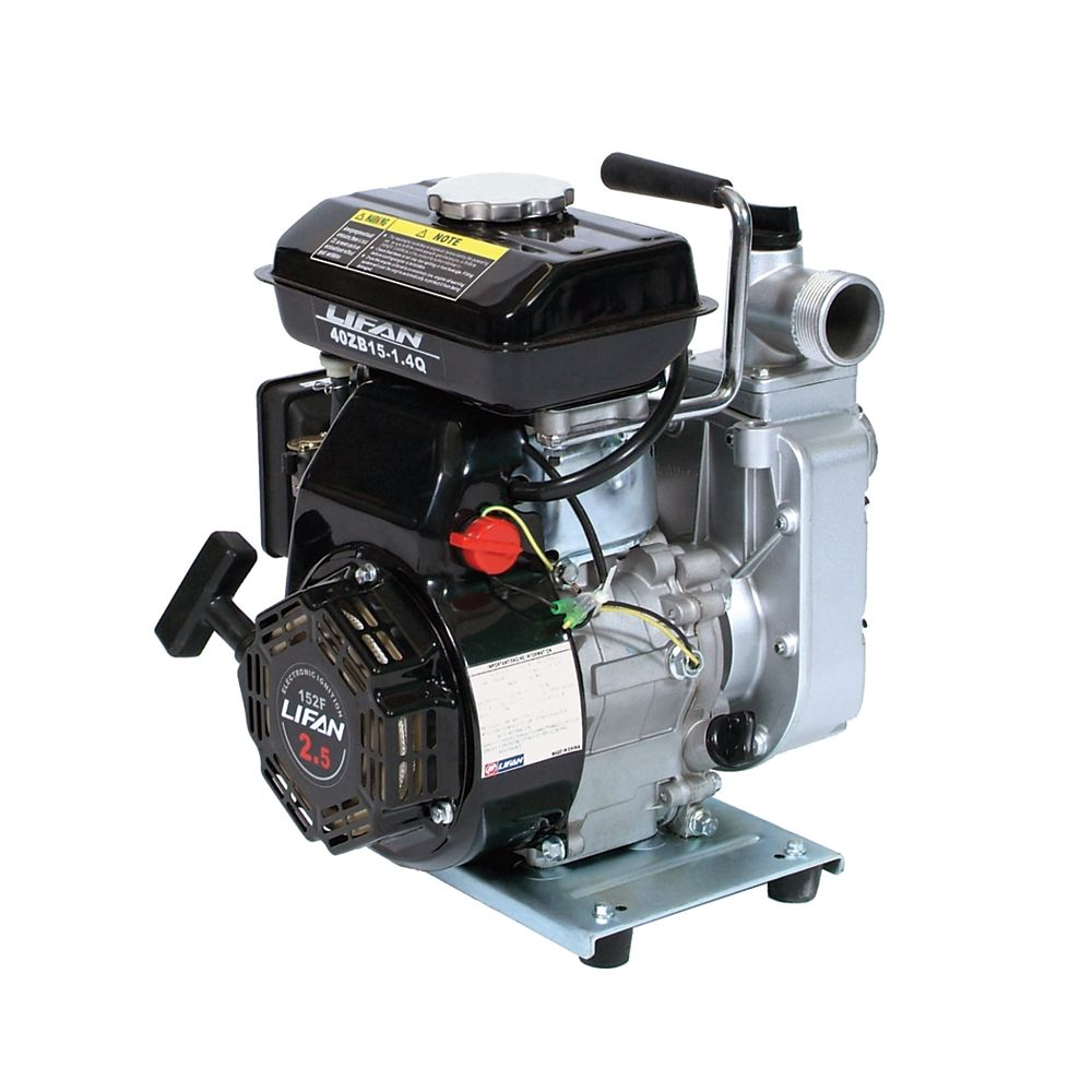LIFAN 1.5 in. Inlet / Outlet 2.5 HP Displacement Water Pump