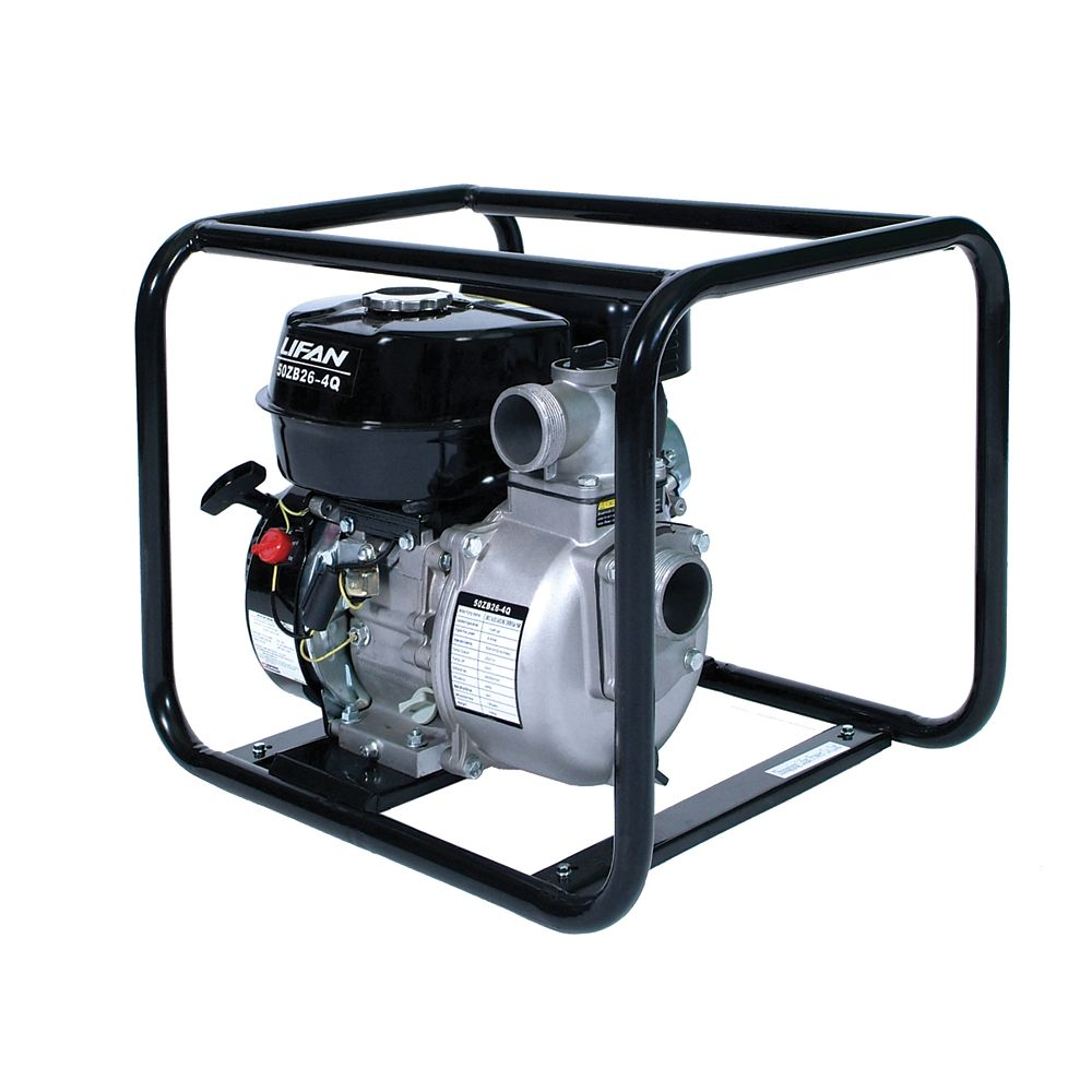 LIFAN 2 in. Inlet / Outlet 6.5 HP Displacement Water Pump
