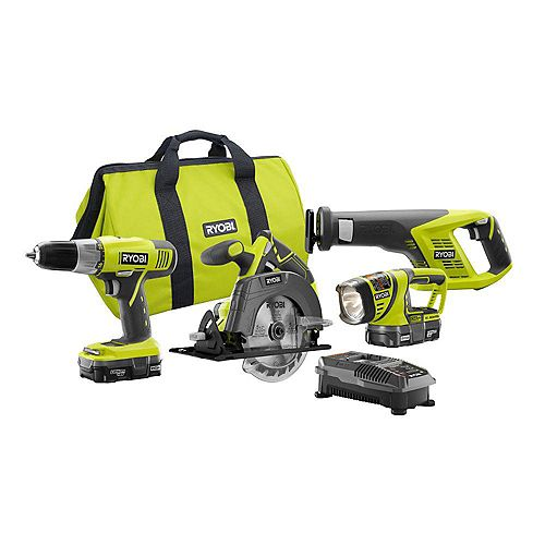 18V ONE+ Lithium-Ion Cordless Combo Kit (4-Tool) w/ (2) Compact Batteries