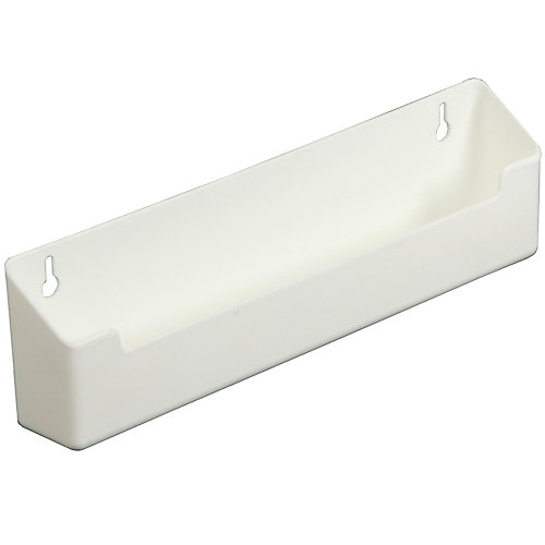 Polymer White Sink Front Tray with Shallow Depth - 11 Inches Wide