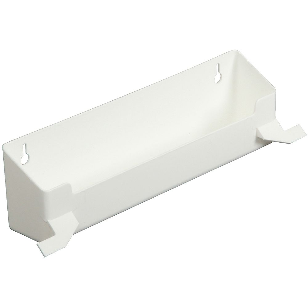 Knape & Vogt Polymer White Sink Front Tray With Stops - 12.375 Inches Wide
