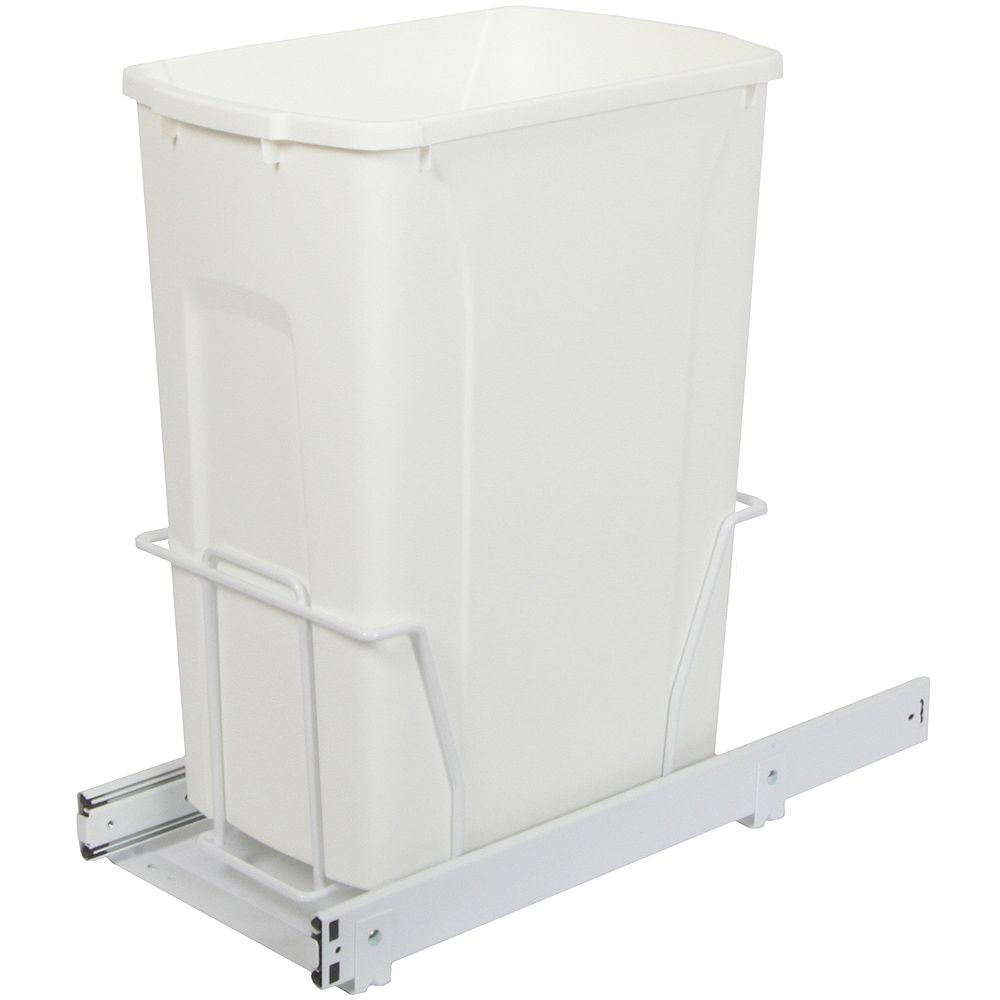 Knape & Vogt Single 35 Quart Bin Waste and Recycling Unit - Lid is not Included