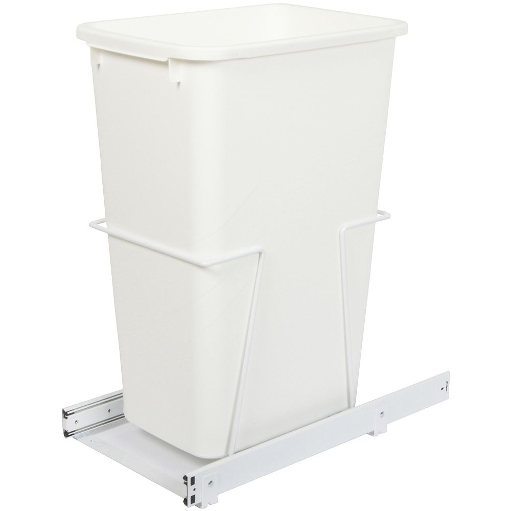 Knape & Vogt Single 50 Quart Bin Waste and Recycling Unit - Lid is not Included