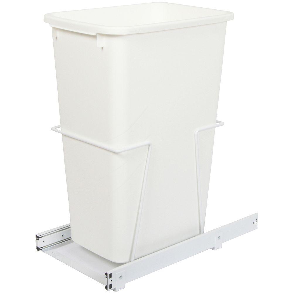 Knape & Vogt Unité à déchets et à recyclage à un contenant de 47,3 litres - Couvercle non inclus
