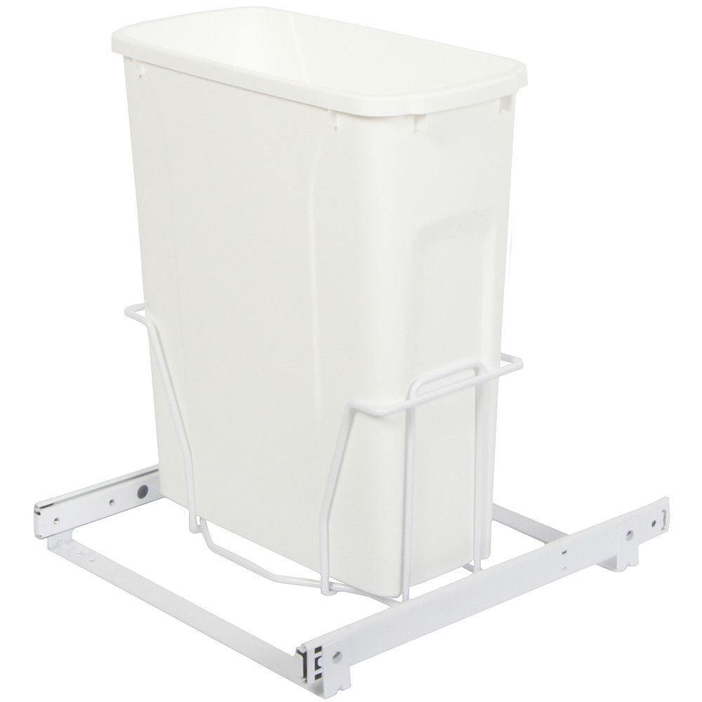 Knape & Vogt Single 20 Quart Bin Waste and Recycling Unit - Lid is not Included