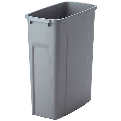 Poubelle à déchets et à recyclage de 18,9 litres platine