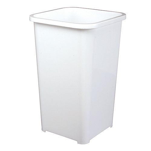 Poubelle à déchets et à recyclage de 25,7 litres blanc