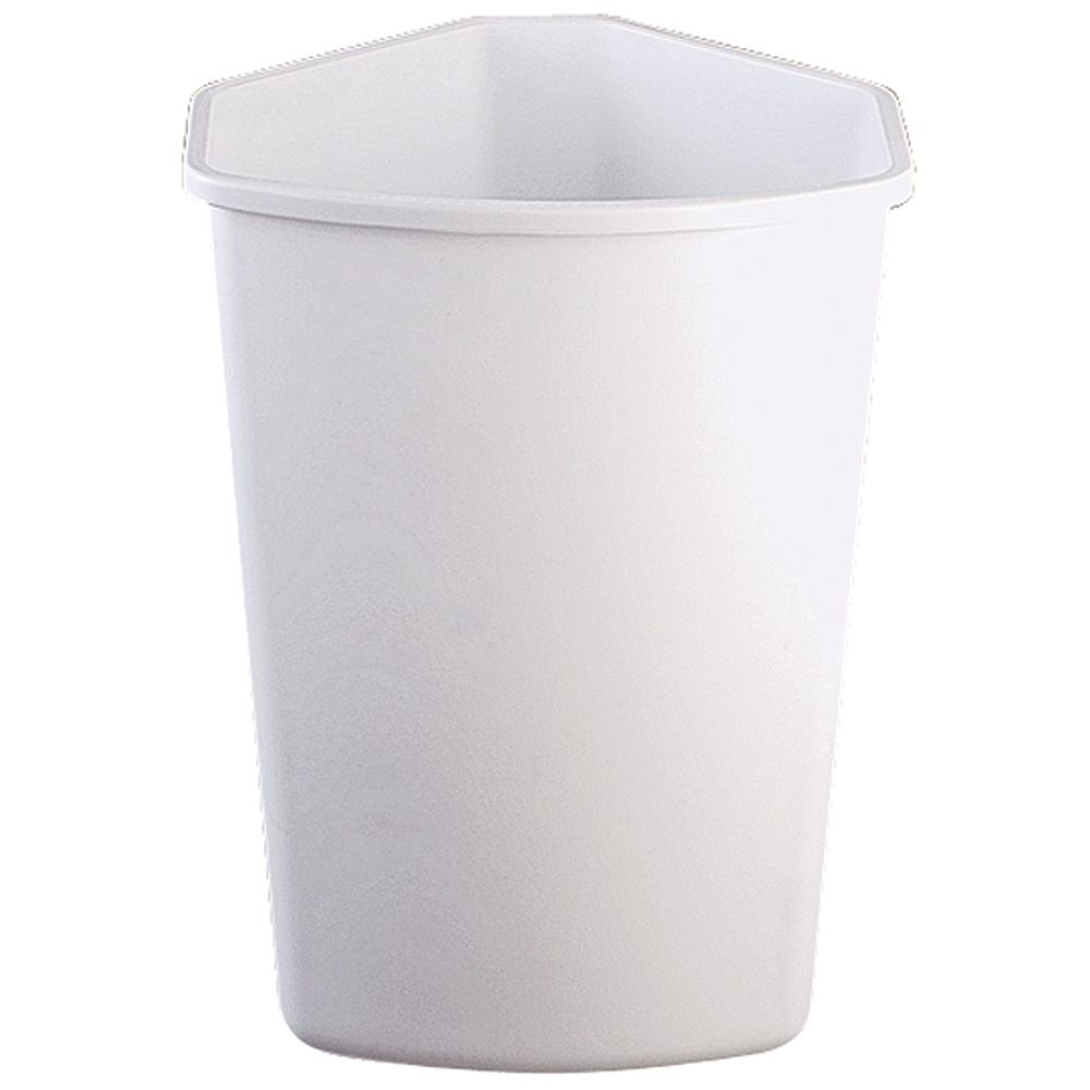 Knape & Vogt 32 Quart White Waste and Recycle Bin
