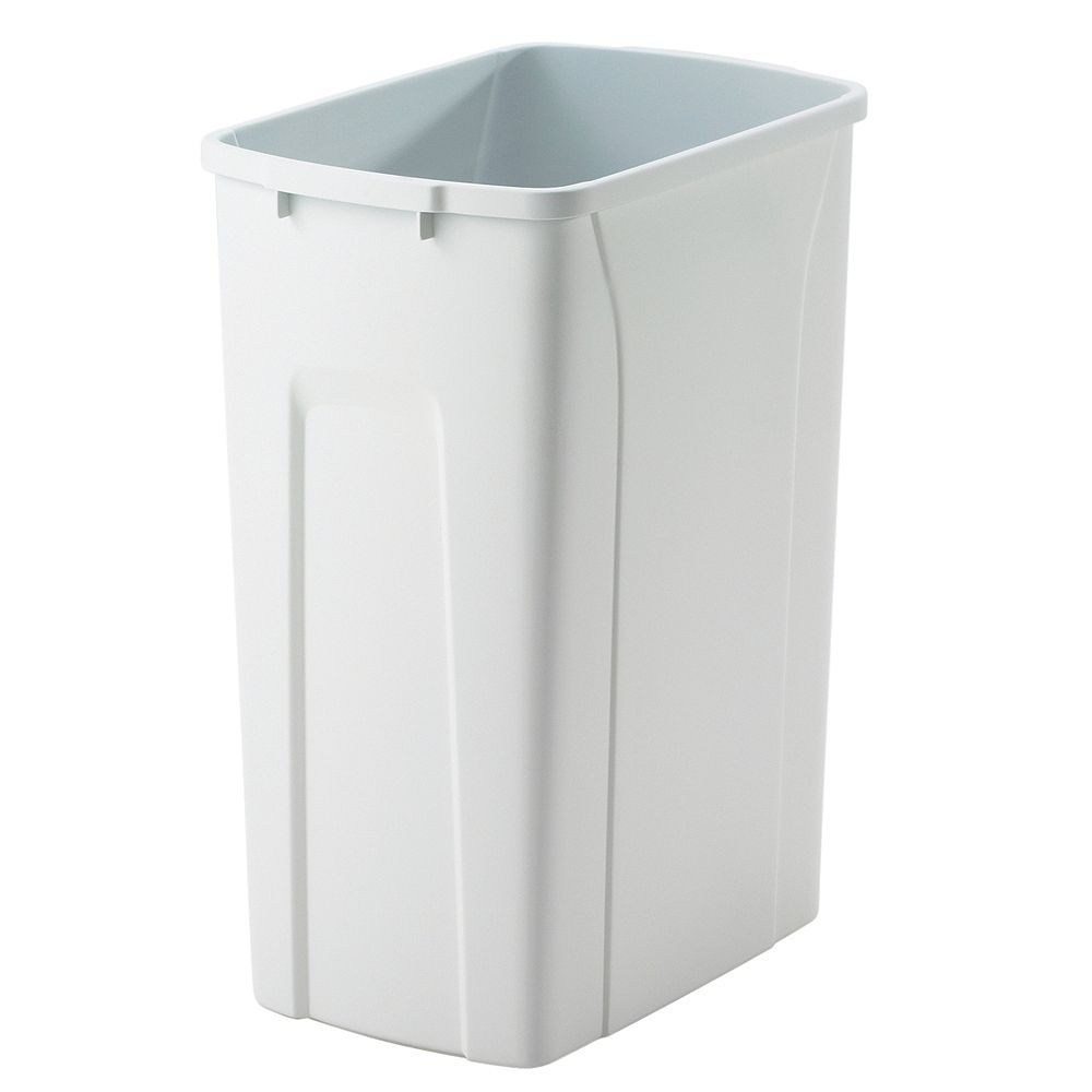 Knape & Vogt 35 Quart White Waste and Recycle Bin
