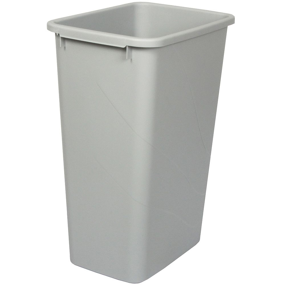 Knape & Vogt 50 Quart Platinum Waste and Recycle Bin