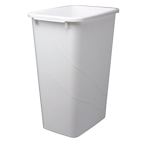 50 Quart White Waste and Recycle Bin
