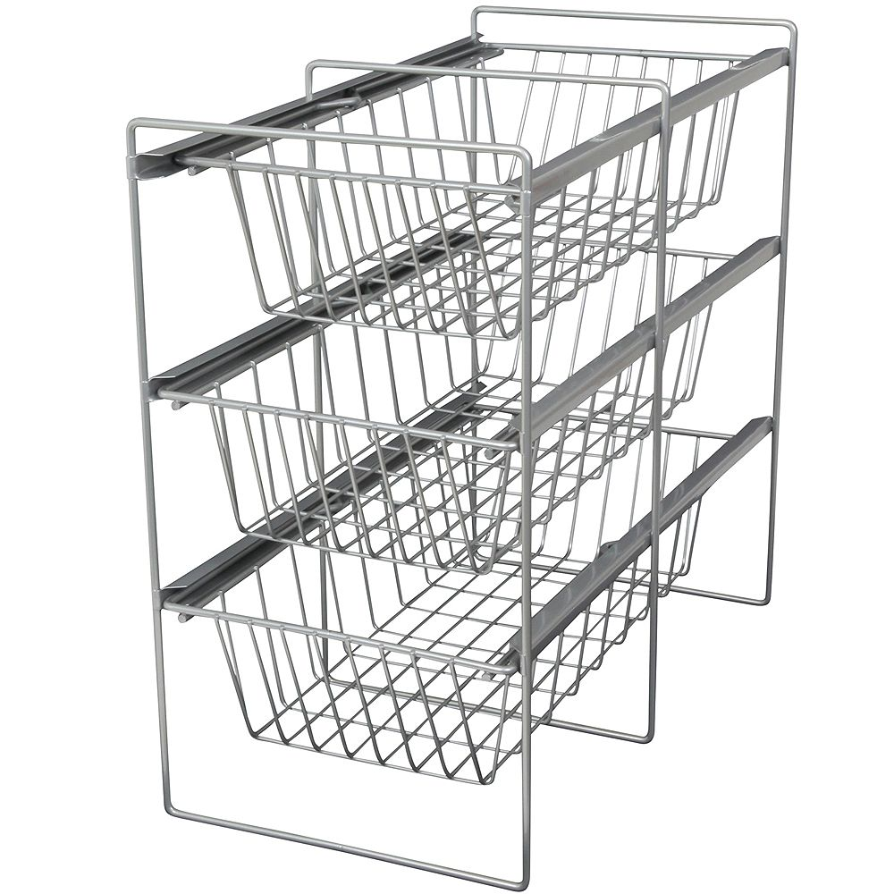 Knape & Vogt Frosted Nickel Vegetable Bin Assembly - 11 Inches Wide