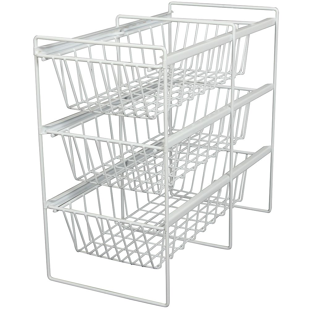 Knape & Vogt White Vegetable Bin Assembly - 11 Inches Wide