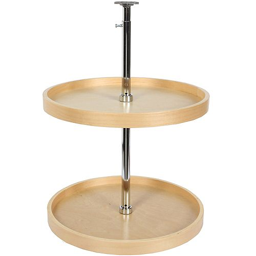 Full Round Wood Lazy Susan - 18 Inches Diameter