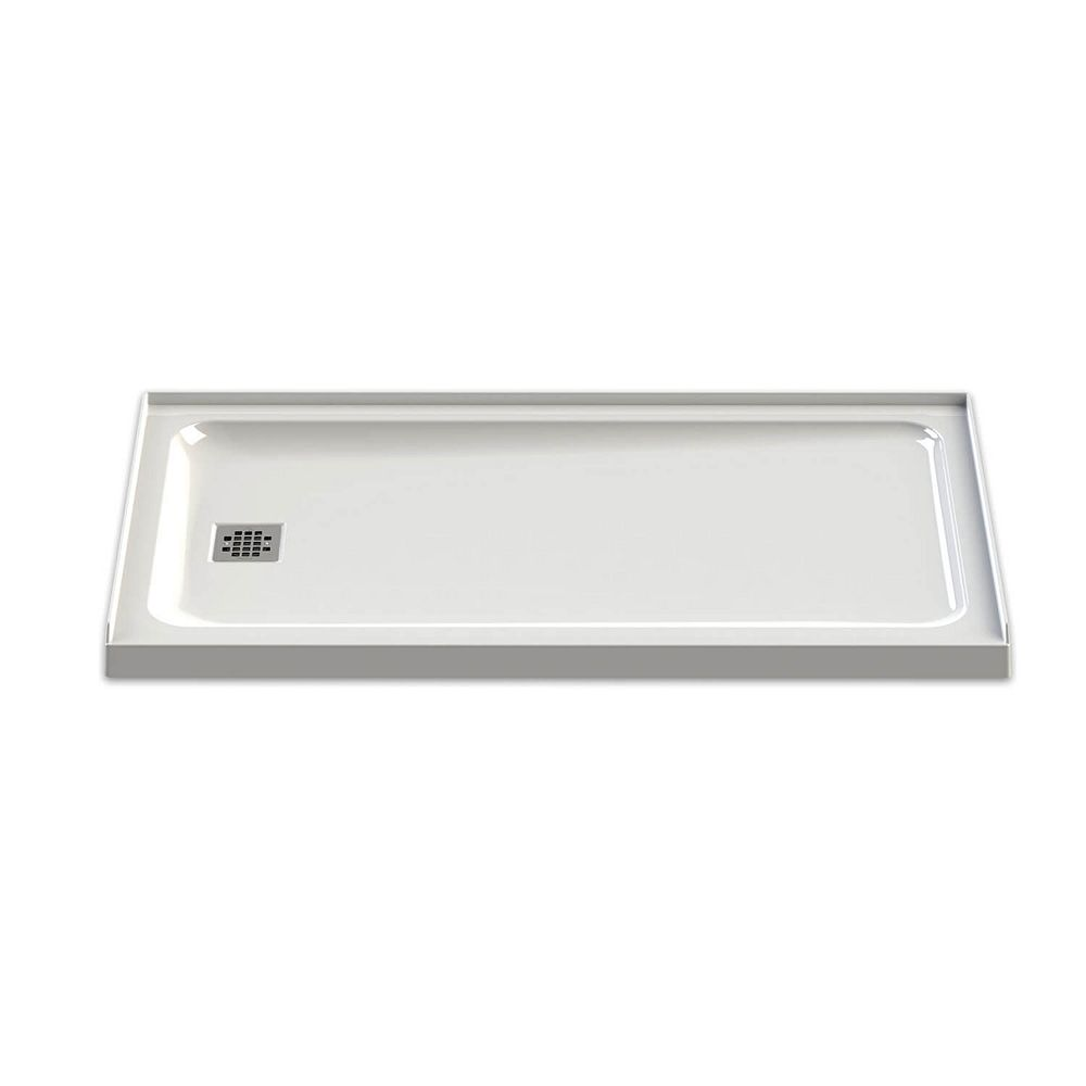 MAAX Olympia 60-inch x 32-inch Left-Drain Shower Base in White