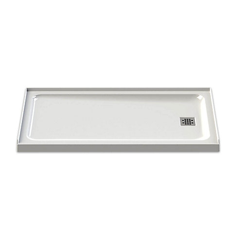 Olympia 60-inch x 32-inch Right-Drain Shower Base in White