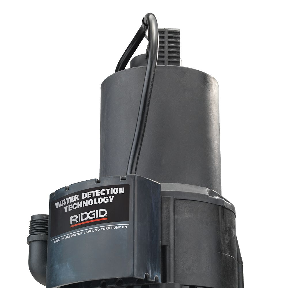 RIDGID 1/4 HP Submersible Auto On/Off Utility Pump