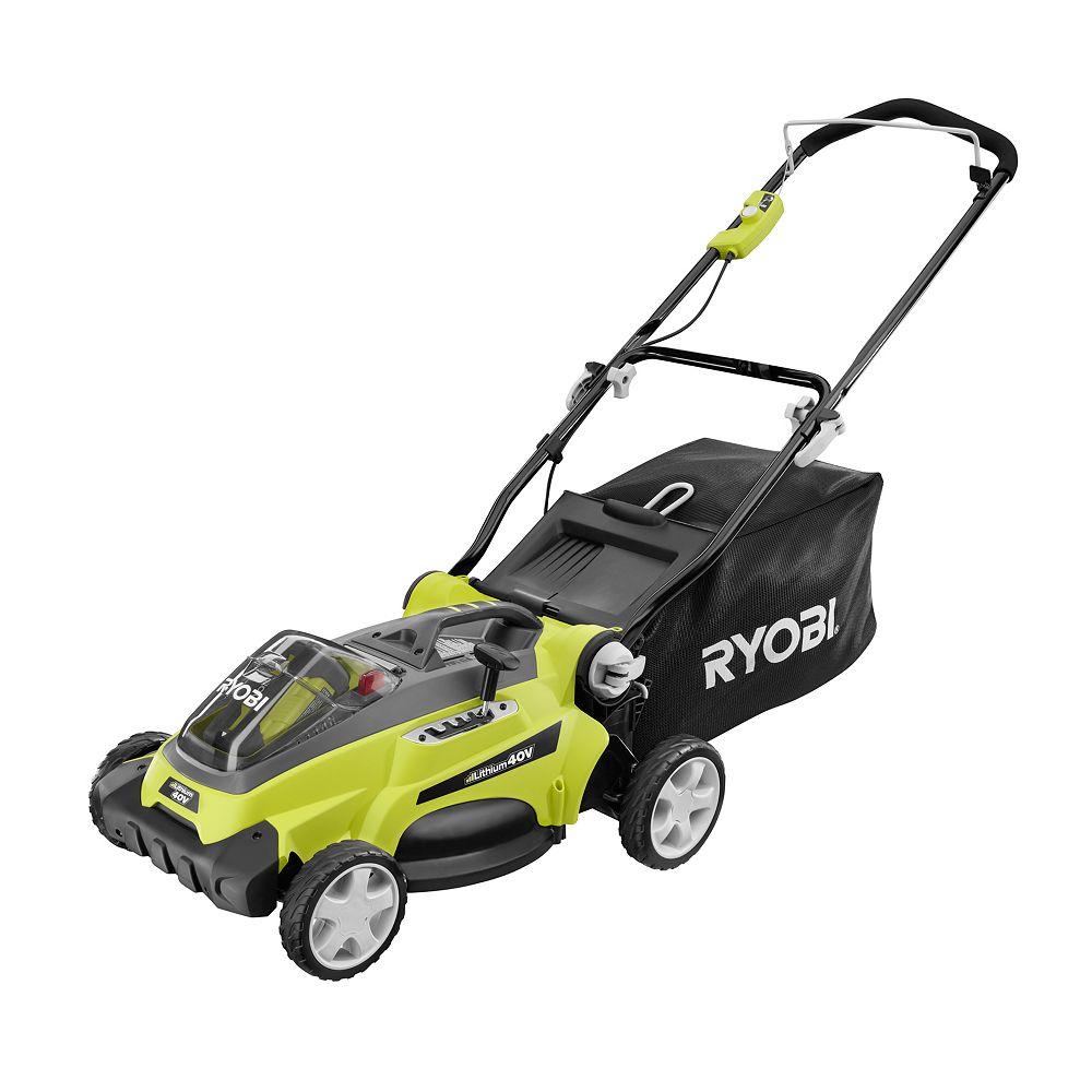 RYOBI 16-inch 40V Lithium-Ion Battery Powered Lawn Mower