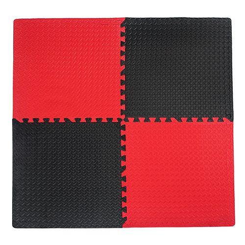 Utilitaire noir et rouge - 24 po x 24 po (paquet de 4)