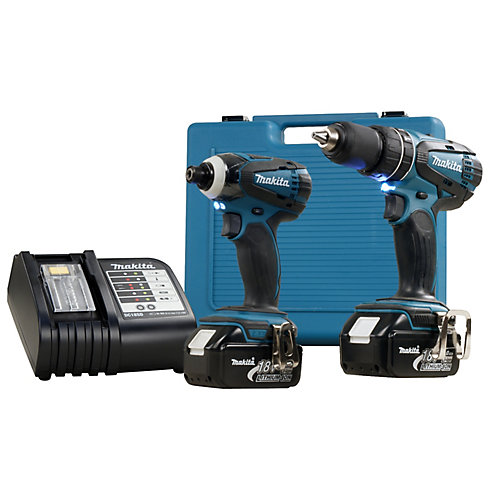 1/2-inch Hammer Drill and 1/4-inch Impact Driver Combo Kit (2-Piece)