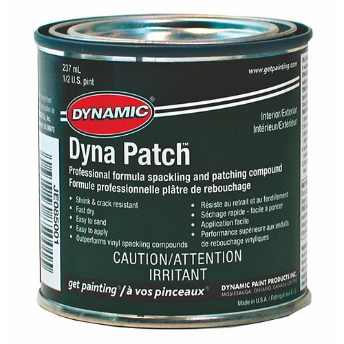Dynamic Plâtre à reboucher Dyna Patch Pro 236 ml (8 oz)