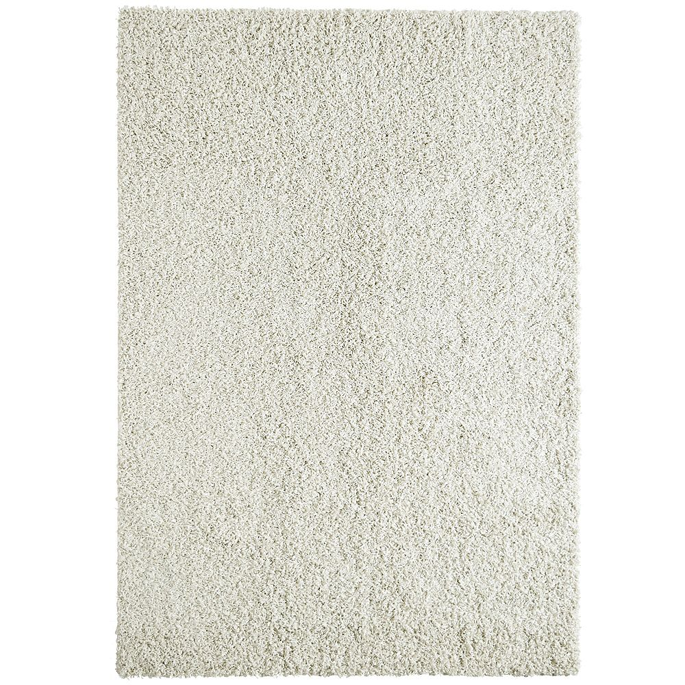 Lanart Rug Comfort Shag White 2 ft. x 4 ft. Indoor Shag Rectangular Mat