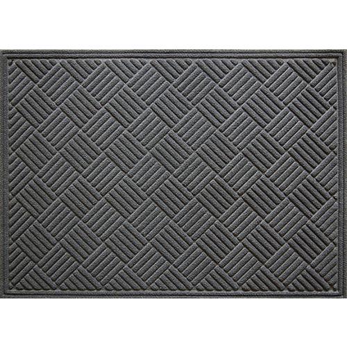 Paillasson d'intérieur/extérieur, 3 pi x 4 pi, rectangulaire, gris Contours