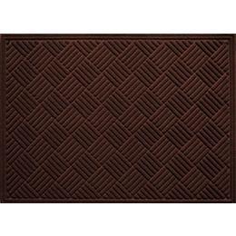 Contours Brown 3 ft. x 4 ft.  Indoor/Outdoor Rectangular Door Mat