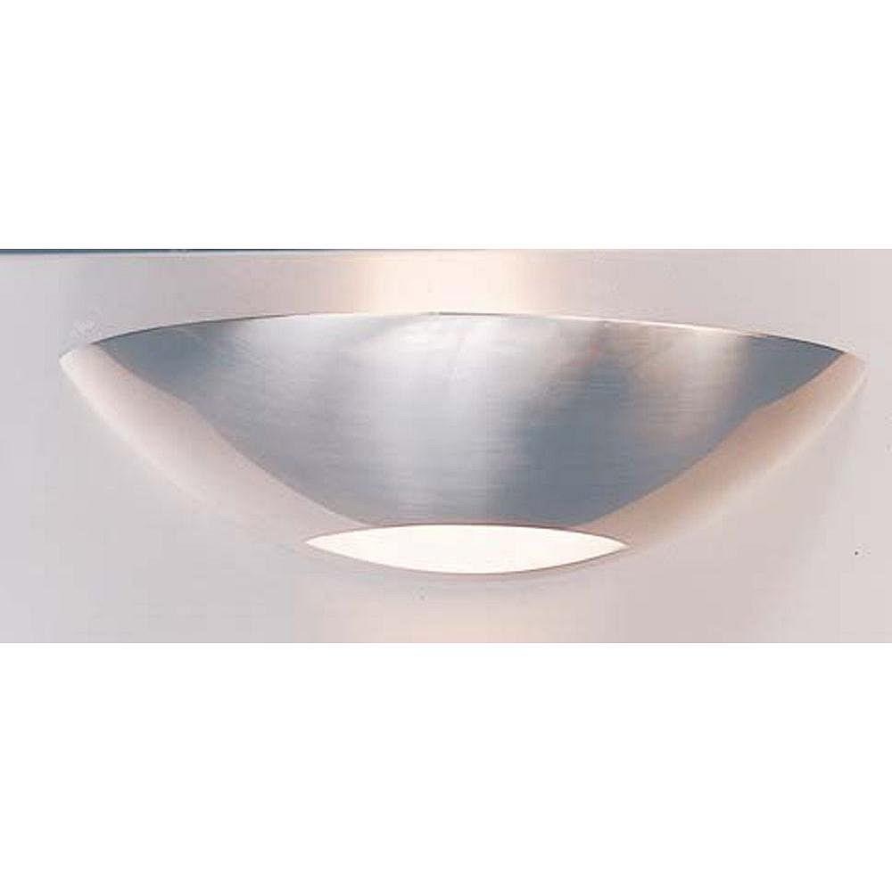 Illumine 1 Light Bath Vanity Brushed Steel Finish Satin Etched Glass