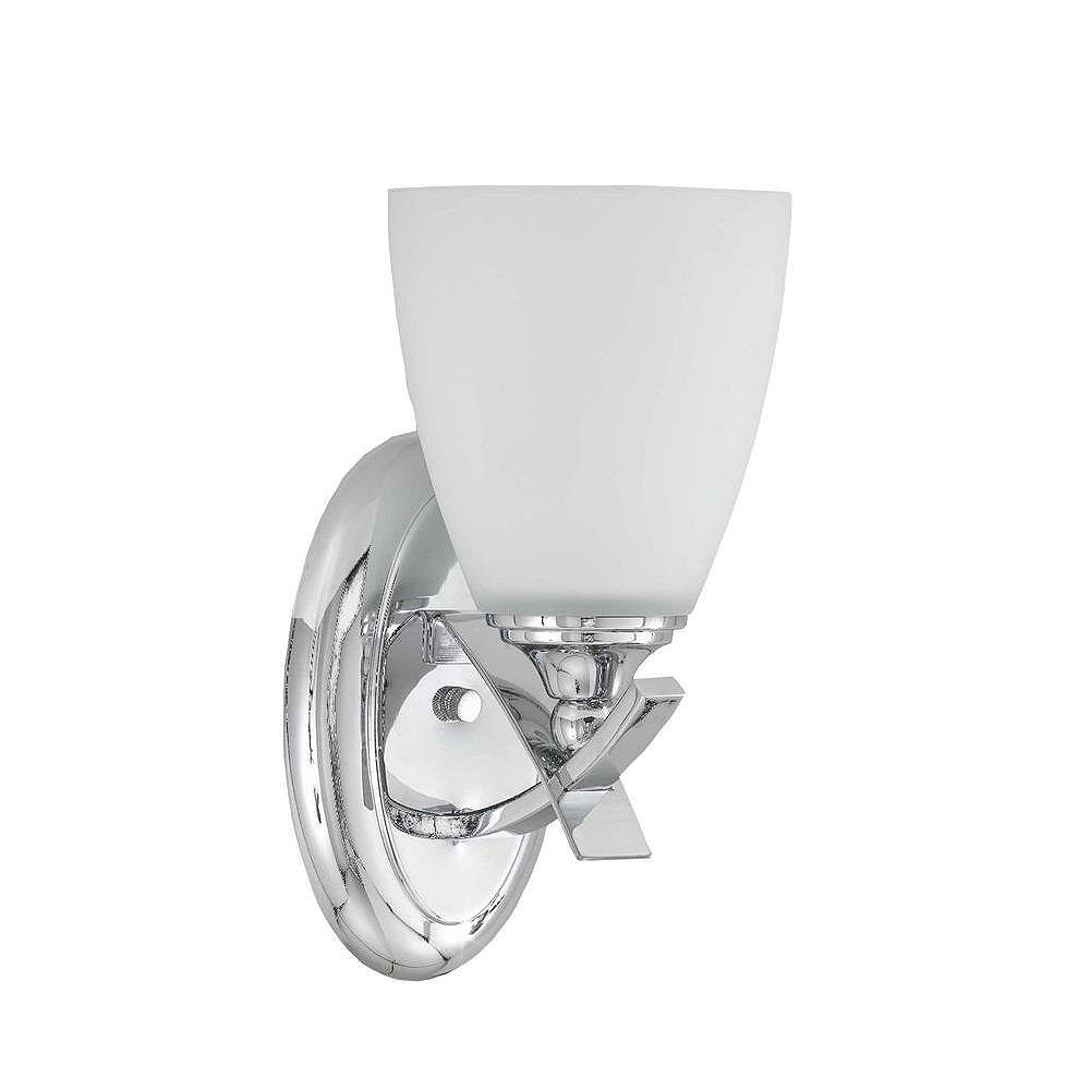 Illumine 2 Light Semi Flush Mount Chrome Finish White Opal Glass