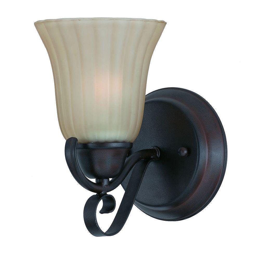 Illumine 1 Light Wall Sconce Bronze Finish Tea Tinted Glass Shades