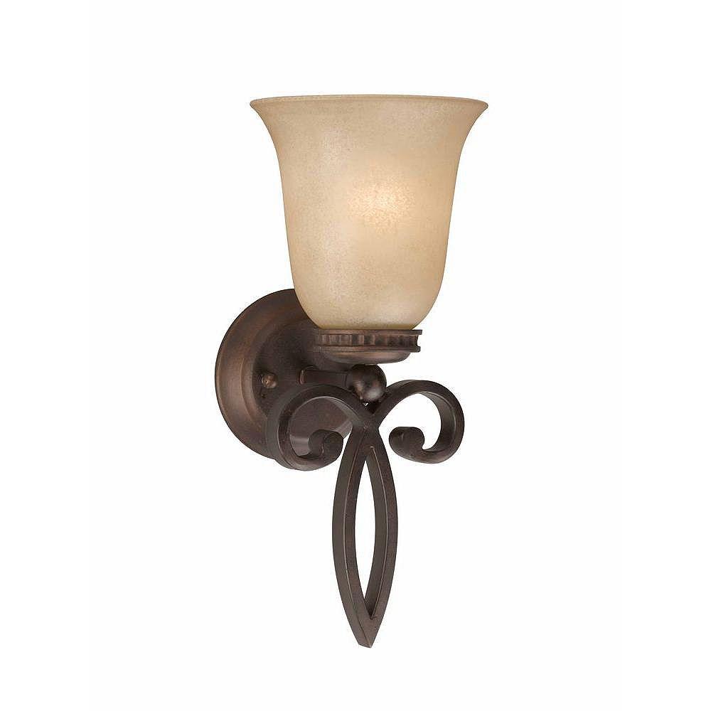 Illumine 1 Light Wall Sconce Bronze Finish Antiqued Scavo Glass